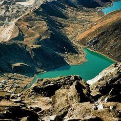 Everest region- Bird eye view from 18000 feet.