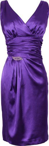 Satin Formal Little Black Dress Crystal Pin Prom Bridesmaid Junior Plus Size $89.99 (22% OFF)