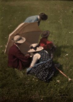 Austrian pictorialist photographer Heinrich Kühn (1866-1944) In 1907 the Lumière Bros. developed the first color process. The Lumière Autochromes of the early 20th Century give us a window onto a world now gone, with the added verisimilitude of color, a film type which was not to become popular until the late 1930s