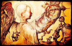 """Child Self Extruded"". Original art: pen on paper, 1988 or Digital manipulation added in Original Art, My Arts, Child, The Originals, Digital, Paper, Fun, Painting, Inspiration"