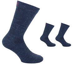Made in USA Blue 2pk L Kids Merino Wool Crew Hiking Socks Ballston,REI Over run