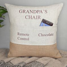 'grandad's chair' personalised pocket cushion by rustic country crafts | notonthehighstreet.com