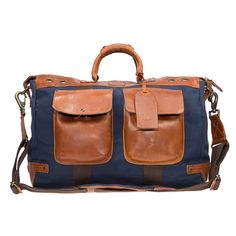 0a9eca683350bf Will Leather Canvas Traveller Duffle