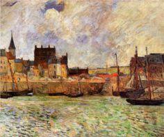 "Alessandro Fornero @AlessandroForn6 Paul #GAUGUIN, ""Harbour scene Dieppe"" 1883 #art #twitart #artwit #followart #painting #iloveart #artist ..."