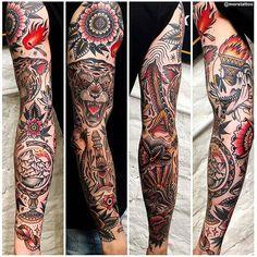 Old School Inspiration Traditional Tattoo Flash Sheets, Traditional Sleeve, Traditional Tattoo Design, Old School Tattoo Sleeve, Tattoo Sleeve Filler, Sleeve Tattoos, Cool Forearm Tattoos, Body Art Tattoos, Tattoo Ink