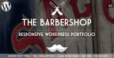 The Barbershop is a One Page Responsive WordPress Theme with a clean, unique retro/vintage design. The theme is packed with great Custom Post Types adn Theme Options to display any kind of Work on your website. The theme can be used for Barbershops and for your personal portfolio