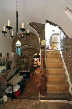 ..inside a traditional house in Mesta village...