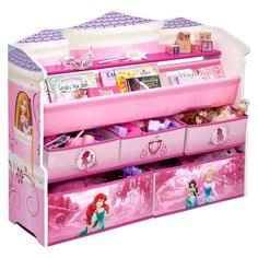 Deluxe Book U0026 Toy Organizer Disney Princess   Delta Children.