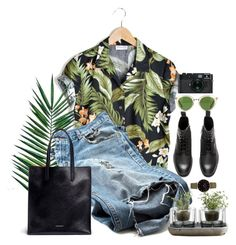 """""""wändərləst"""" by vitargh ❤ liked on Polyvore featuring Nika, CLUSE, Oliver Peoples, Givenchy, Nude, Leica, StreetStyle, GREEN and nature"""
