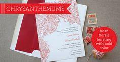 Chrysanthemum Wedding Invitations by Delphine