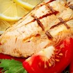 Grilled Salmon with Mixed Greens