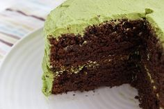 Vegan Chocolate Avocado Cake - may have to give this a try for Bean's birthday cake.