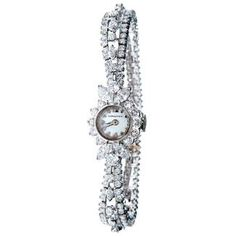 Vintage Ladies' Platinum & 6.69 CTW Diamond Longines Watch | Leo Hamel Fine Jewelers