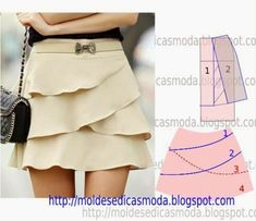 Tremendous Sewing Make Your Own Clothes Ideas. Prodigious Sewing Make Your Own Clothes Ideas. Skirt Patterns Sewing, Clothing Patterns, Skirt Sewing, Pattern Skirt, Diy Clothing, Sewing Clothes, Fashion Sewing, Diy Fashion, Fashion Tips