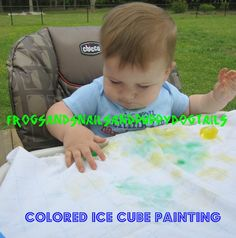 Ice cube painting