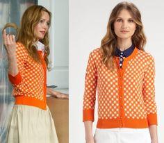 other woman movie leslie mann kate orange gingham check cardigan