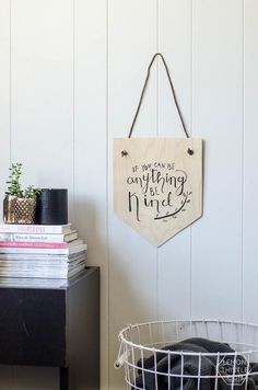 How-To: Hand Lettered Birch Plywood Wall Hanging