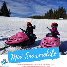 Give your kids a chance to drive and have fun too around our groomed track conveniently located at our Beaver Village location in Downtown Winter Park. Mini's are available on a walk-in only basis from 9  am to 4 pm daily. $20 gets you 5 laps around our groomed track.   #coloradowinterdaytrips #coloradowintertour
