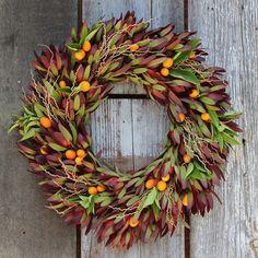 Crimson Citrus Wreath from Flora Grubb