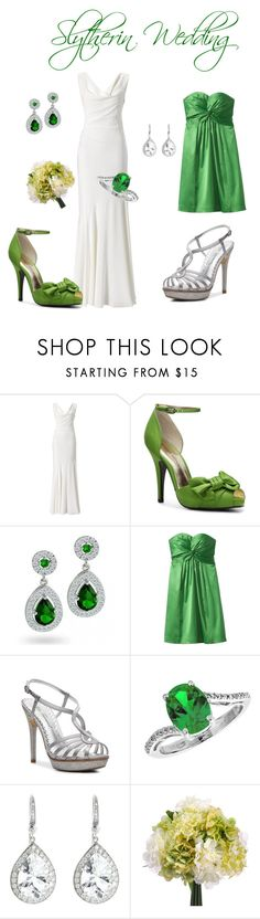 """""""Slytherin Wedding"""" by goldenfirefly85 ❤ liked on Polyvore featuring Monsoon, Audrey Brooke, Lulu Townsend, Reeds Jewelers and Andrea Fohrman"""