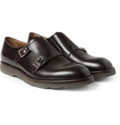 Paul Smith Shoes Accessories - Rubber-Soled Leather Monk-Strap Shoes
