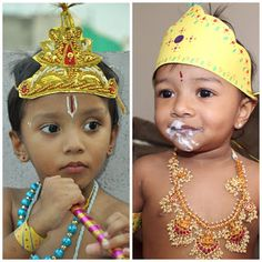 A very Happy Krishnastami to all of you. This is the day when LORD KRISHNA was born.how can any one forget this day . Krishna Radha, Lord Krishna, Human Pyramid, Little Krishna, Paper Magic, Loose Ends, Baby Comforter, Paper Ornaments, Mom Dress