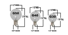Novelty Lights Globe Light Size Comparisons