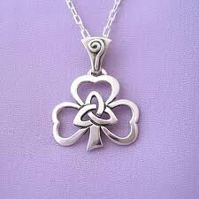 Sterling silver Celtic shamrock
