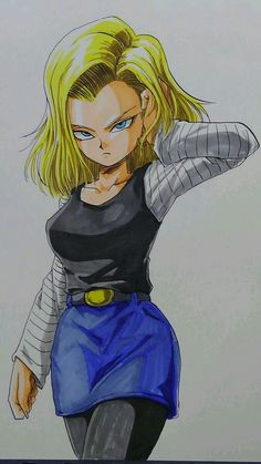 Android 18 (Dragon Ball Z) (c) Toei Animation, Funimation & Sony Pictures Television Cartoon Cartoon, Dragon Ball Gt, Caulifla Hot, Manga Anime, Snk King Of Fighters, Green Lantern Movie, Super Anime, Anime Girl Hot, Android 18