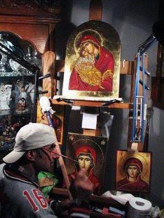 30393_1371098410682_3596715_n Byzantine Icons, Painting, Art, Art Background, Painting Art, Kunst, Paintings, Gcse Art