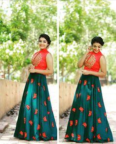 Kids Party Wear Dresses, Girls Party Wear, Girls Dresses, Lehnga Dress, Frock Dress, Indian Skirt, Dress Indian Style, Traditional Dresses For Kids, Kalamkari Dresses