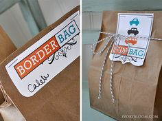 road trips - treats  activities in each bag given to kids at intervals to keep them happy....would be fun to put together!