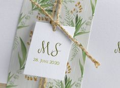 Blütenromanze Hochzeit Tischkarten