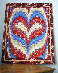 Pictures of Patriotic Quilts: Bargello Heart Quilt