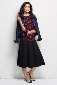 Women's Sport Knit Skirt from Lands' End and I like the whole outfit :-)