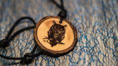 naturecraft nature craft eule owl kette schmuck jewlery holz wood accessories
