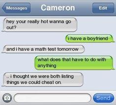 cheat, math test
