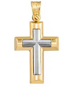 ΚΤΧ703 -Χρυσός βαπτιστικός σταυρός 14Κ Symbols, Letters, Icons, Letter, Fonts, Glyphs, Calligraphy