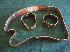 Trifari necklace and bracelets by Lovedarose on Etsy, $40.00