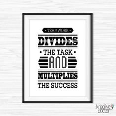 Office Wall Art Teamwork Quotes Printable Success Quotes Motivational Wall  Decor Inspirational Quote