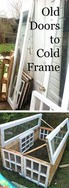 Upcycled Cold Frame Made From Old Doors, Windows and Pallets