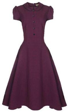 Read More About Lindy Bop 'Rhonda' Vintage 1950's Plum Polka Dot Peter Pan Collar Rockabilly Swing / Tea Dress …, http://style-smilez.tumblr.com/post/43408024473/lindy-bop-rhonda-vintage-1950s-plum-polka-dot-peter , Pinned by http://pinterest.com/pinterestfella