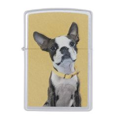 Boston Terrier Zippo Lighter - drawing sketch design graphic draw personalize
