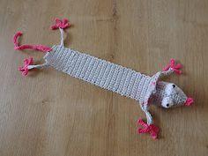 "Kreatívny Magazín: Háčkovaná záložka ""Myš"" Crochet, Amigurumi, Ganchillo, Crocheting, Knits, Chrochet, Quilts"