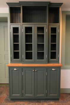 We built this custom #hutch/storage system as part of a larger #kitchen remodel.  #cabinetry #shelving