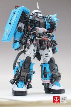 www.pointnet.com.hk - 超靚!!! 模型作品 MG 1/100 MS-06R1A 高機動型 渣古II
