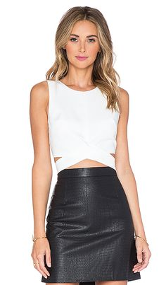 706dd1f0685374 Shop for Lovers + Friends x REVOLVE So Into You Crop Top in White at REVOLVE