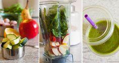 Tip 10 jednoduchých a chutných smoothie receptů na nastartování metabolismu. ✅ Vyzkoušeno za vás. ⭐ Chutné recepty na každý den! | NejRecept.cz Healthy Drinks, Fresh Rolls, Pickles, Ham, Cucumber, Smoothies, Health Care, Ethnic Recipes, Food