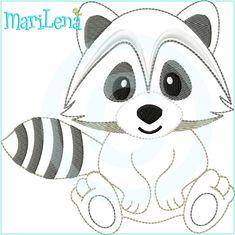 Baby Raccoon Coloring Page Waschbär Brandmalerei und