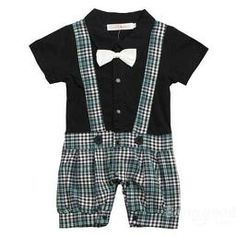 TiaoBug US Baby Boys Plaid Bowtie Gentleman Romper Jumpsuit Black Size Months: Set Include: Jumpsuit br Condition: New without tag br Material: Polyester, Cotton br Color: White/Black(As pictures shown) br Jumpsuit Length: Full Length Baby Outfits, Plaid Outfits, Kids Outfits, White Outfits, Toddler Boys, Kids Boys, Baby Boys, Infant Toddler, Toddler Stuff